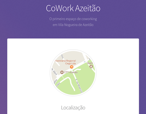 CoWork Azeitão website screenshot